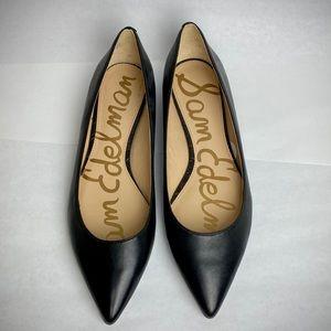 Black leather pointed flat / Sam Edelman / NWOT